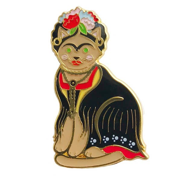 Frida Kahlo Cat Enamel Pin