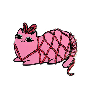 Kinky Kitty Jacqueline Enamel Pin
