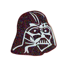Load image into Gallery viewer, Rainbow Glitter Darth Enamel Pin
