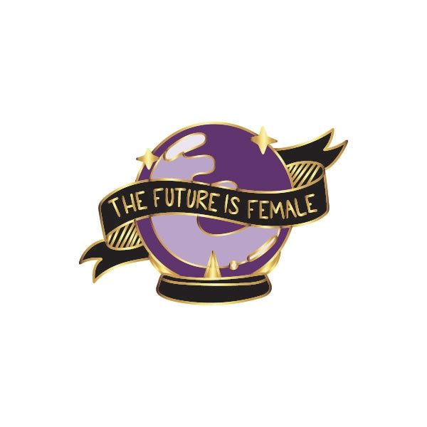 The Future Is Female Crystal Ball Pin