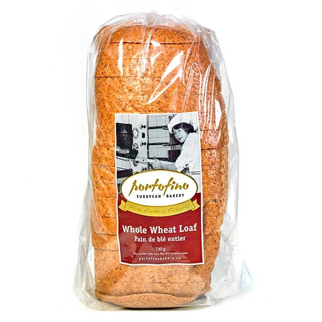 Portofino European Bakery Artisian Bread Loafs - Whole Wheat Bread 720g