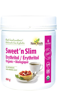 New Roots Organic Sugar Subsitute - Sweet 'n Slim Erythritol 454g