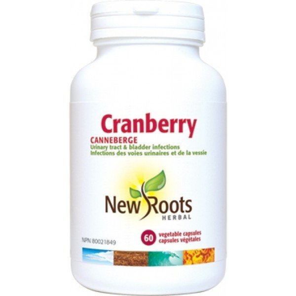 New Roots Cranberry Urinary Tract and Bladder Infections 60 Capsules