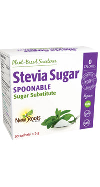 New Roots Stevia Sugars - Spoonable Sugar Substitute 30x5g