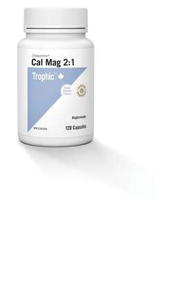 Trophic Chelazome Cal Mag 2:1 Bisglycinate 120 Vegecaps