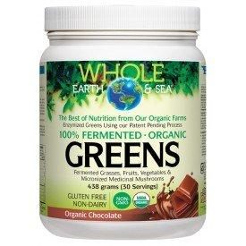 Whole Earth & Sea 100% Fermented Organic Proteins & Greens (Chocolate) 438g
