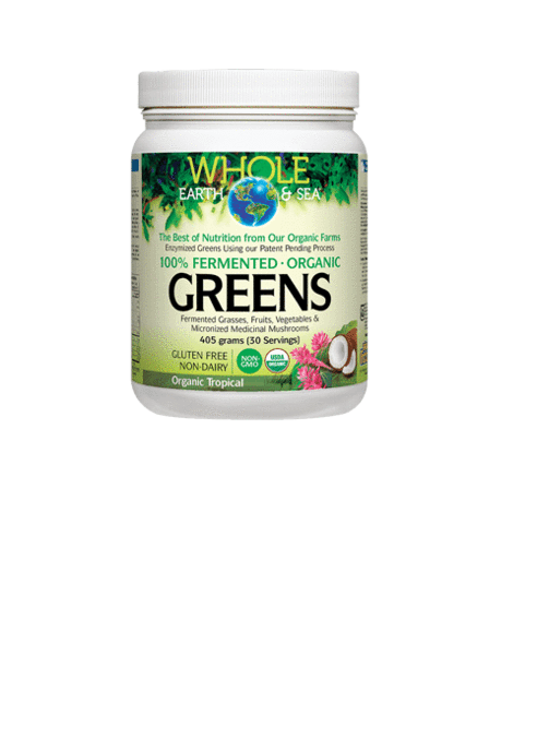 Whole Earth & Sea 100% Fermented Organic Proteins & Greens (Tropical) 405g
