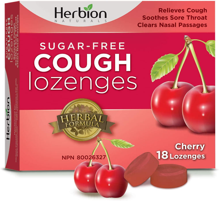 Herbion Naturals Sugar-Free Cough Lozenges - Cherry 18 Pack