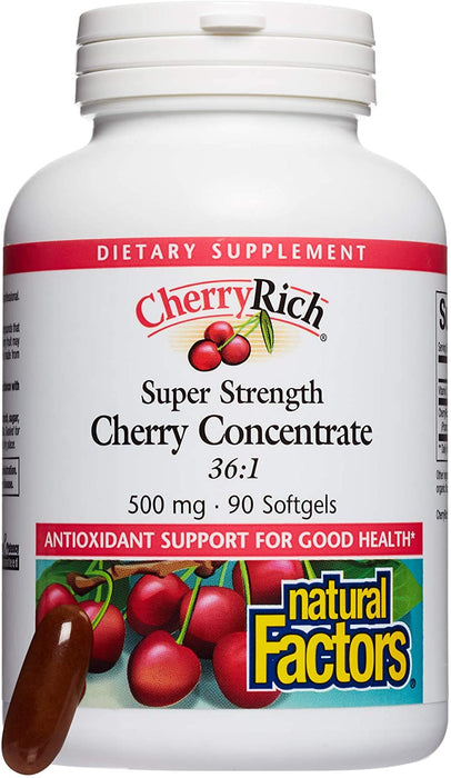 Natural Factors Cherryrich Concentrate 90 Softgels