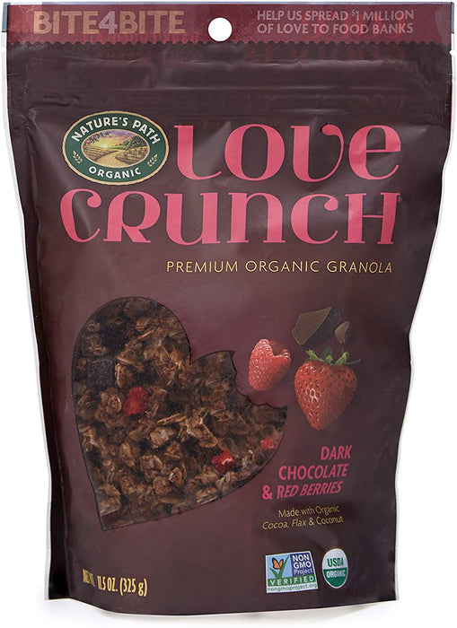 Nature's Path Organic Love Crunch - Premium Organic Granola - Dark Chocolate and Red Berries 325g