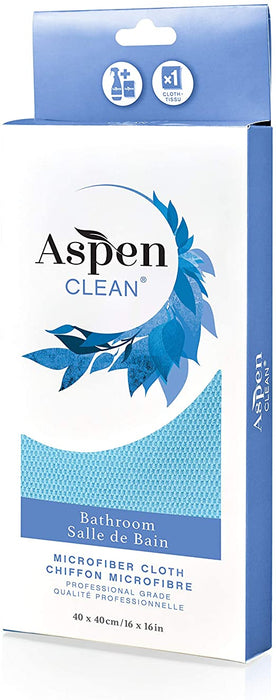AspenClean Professional Grade Microfiber Bathroom Cloth