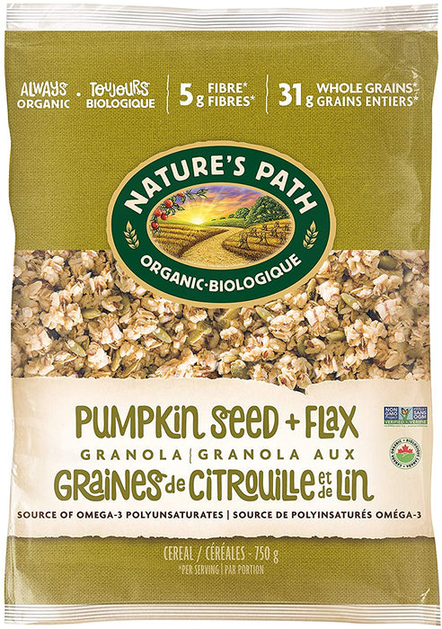 Nature's Path Organic Cereal - Pumpkin Seed + Flax Granola 750g