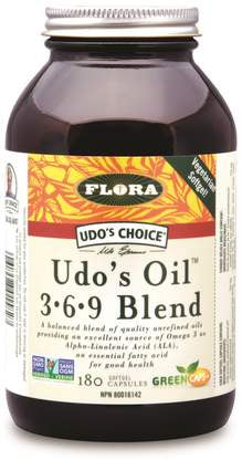 Flora Udo's Oil Omega 3+6+9 Blend 180 Softgels
