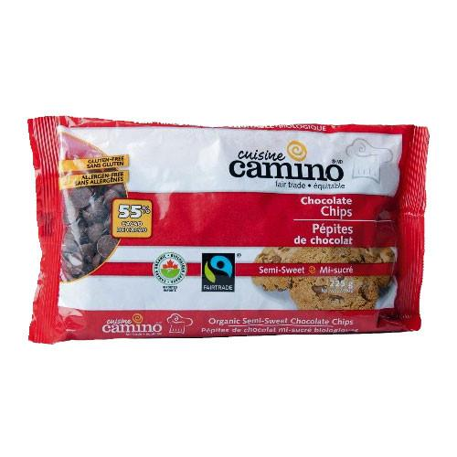 Cuisine Camino Fair Trade Semi Sweet Chocolate Chips 225g
