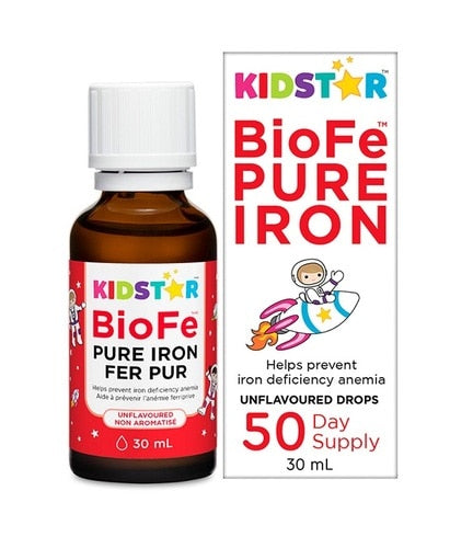 KidStar BioFe Pure Iron Helps Prevent Iron Deficiency Anemia 30ml