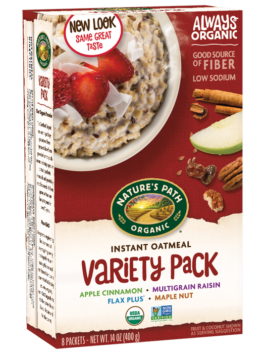 Nature's Path Organic Instant Oatmeal - Varierty Pack 8x50g