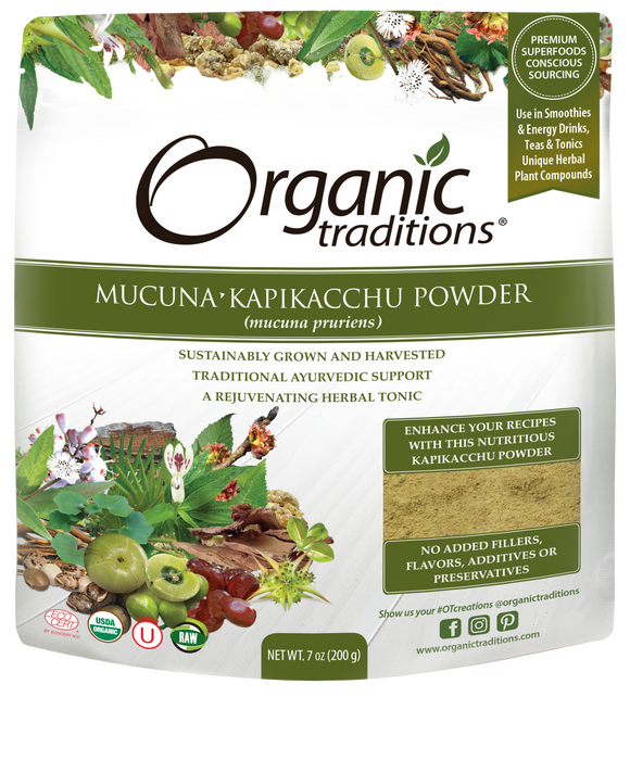 Organic Traditions Mucuna Kapikacchu Powder 200g