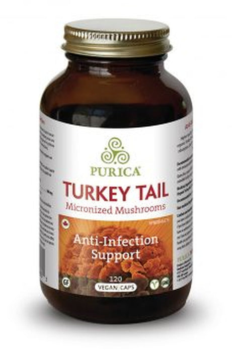 Purica Turkey Tail Micronized Mushrooms - Anti-Infection Support 120 Vegecaps
