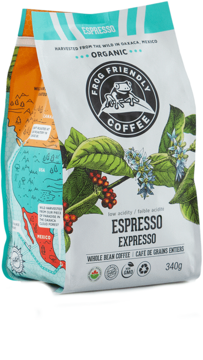 Frog Friendly Organic Coffee - Whole Bean - Expresso 340g