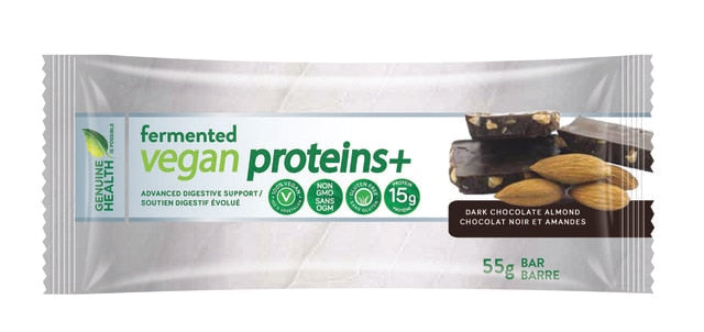 Genuine Health Fermented Veganproteins+ Bars - Dark Chocolate Almond 55g