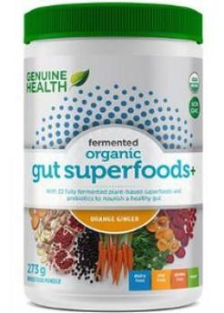 Genuine Health Fermented Organic Gut Superfoods+ (Orange Ginger) 273g