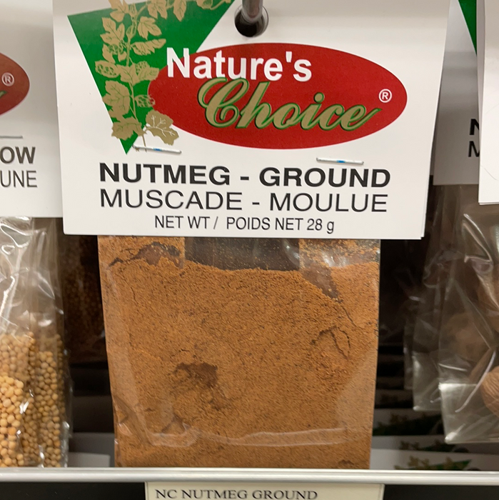 Nature's Choice Spices & Seasonings - Nutmeg Ground 28g