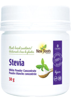 New Roots Stevia Sugars - White Powder Concentrate 30g