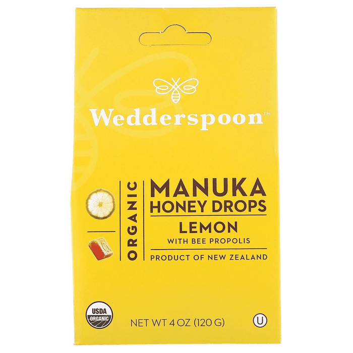 Wedderspoon Manuka Honey Drops - Lemon 120g