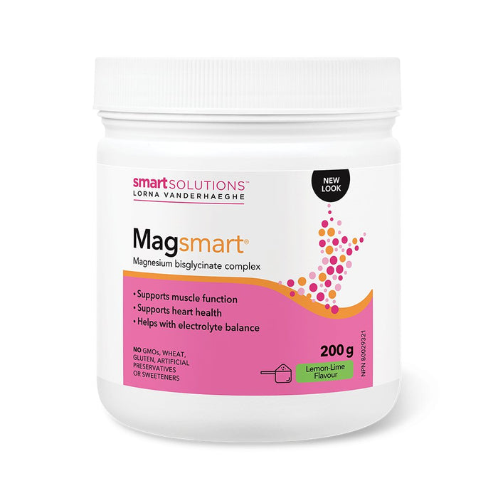 Smart Solutions Lorna Vanderhaeghe Magnesium Bisglycinate Supports Healthy Muscle Function Lemon-Lime