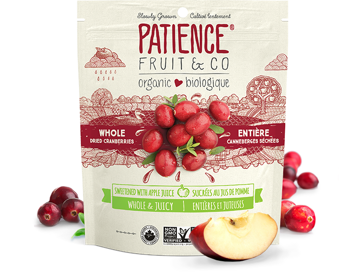 Patience Cranberries Sweetend With Apple Juice 227g