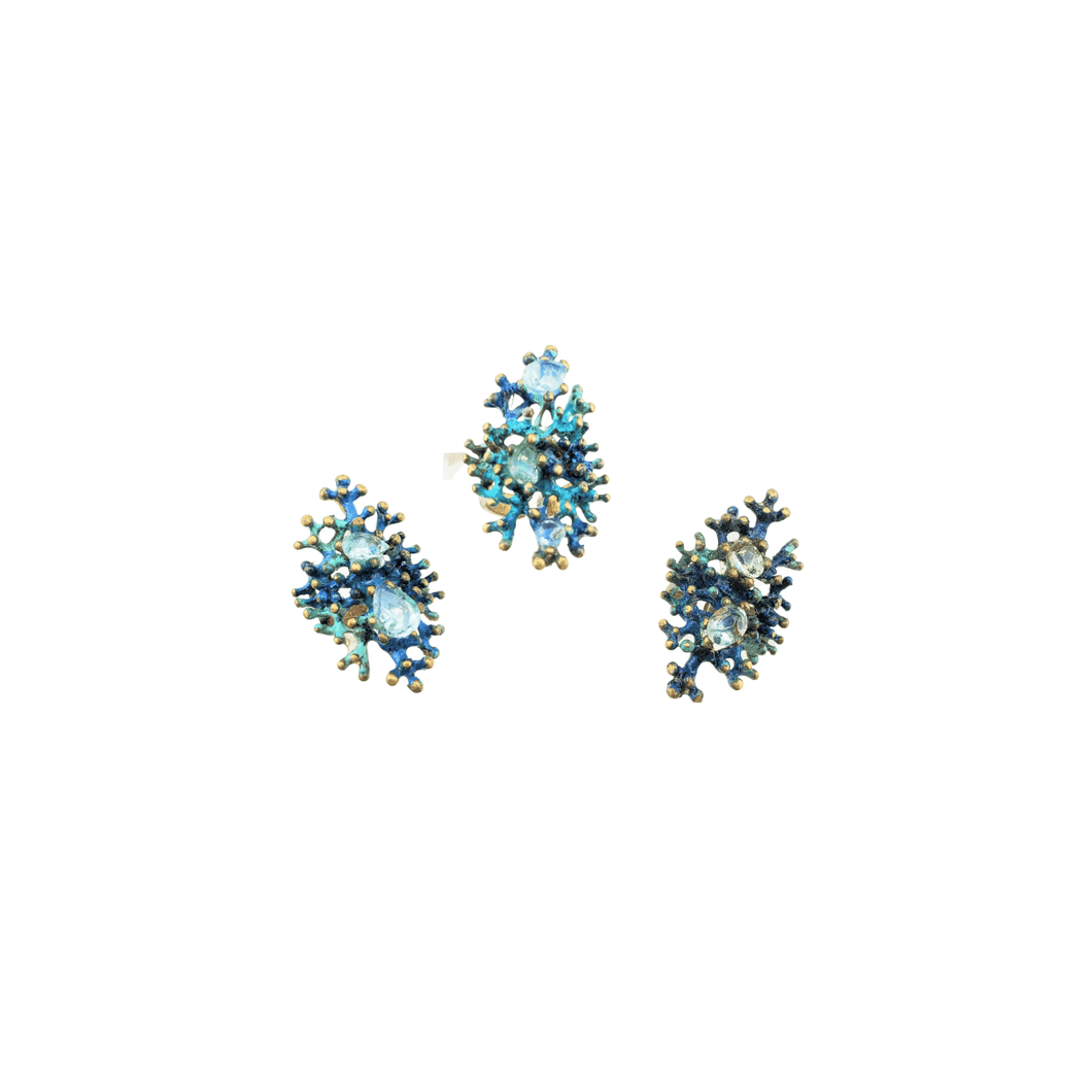 BOUJEE CORAL ~ BLUE TOPAZ