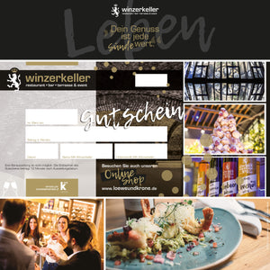Load image into Gallery viewer, Neutral - Winzerkeller Restaurant Gutschein