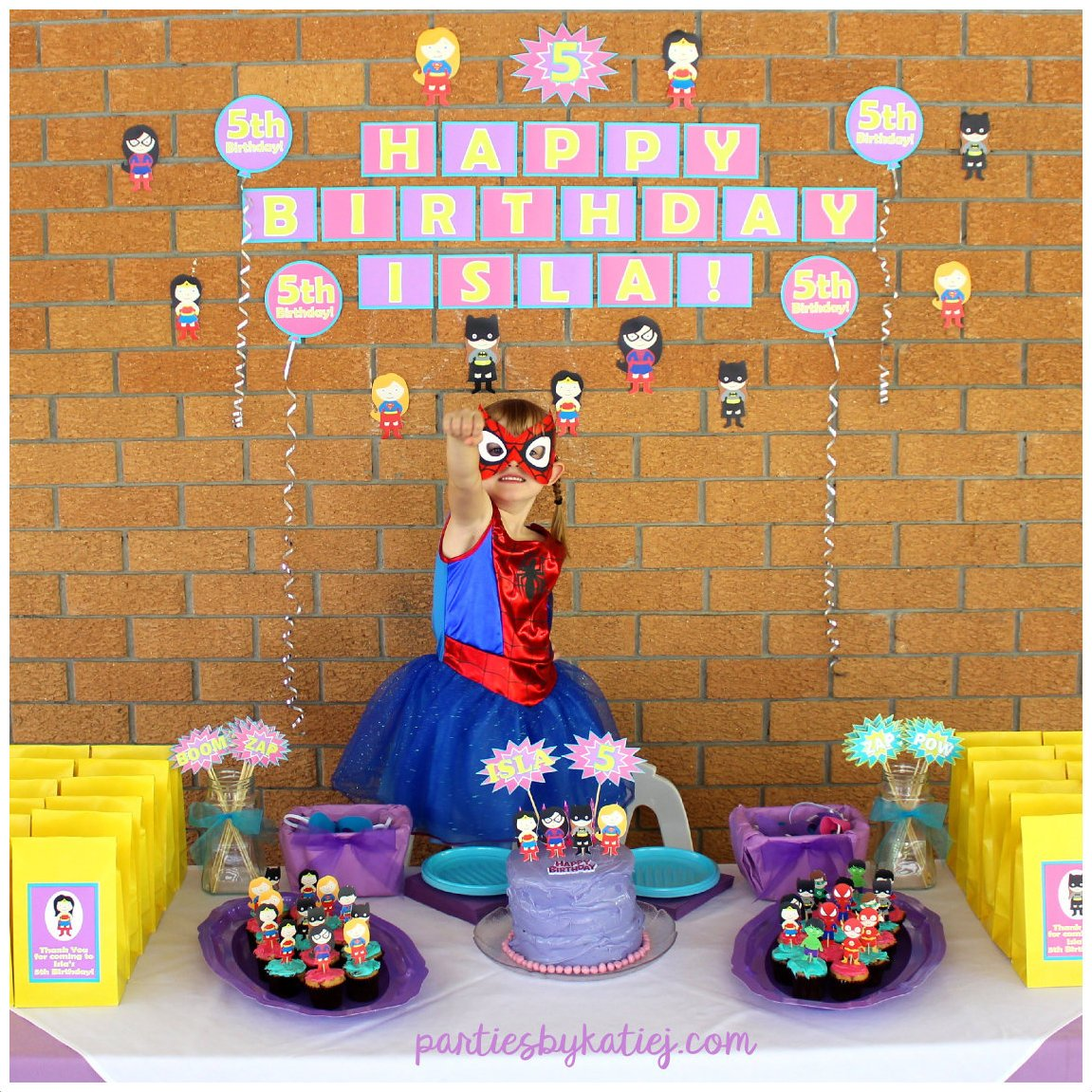 Awesome Girls Super Hero Birthday Party Ideas & Photos