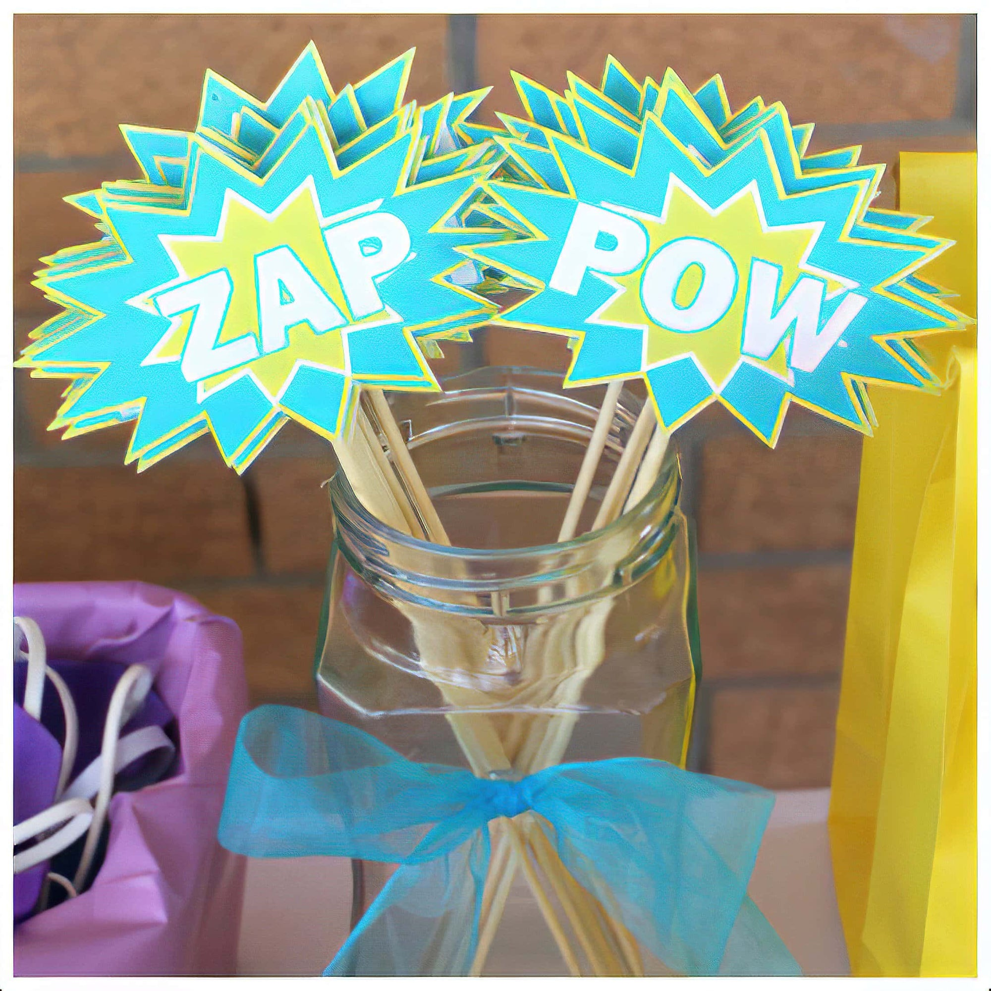 Easy to Make DIY Kids Super Hero Wands