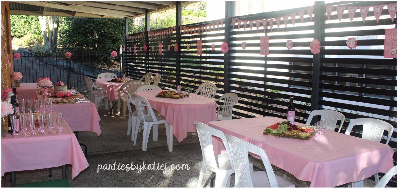 Rustic Floral Party Area Setup