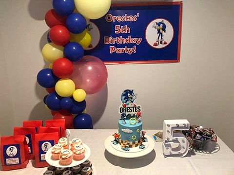 Sonic Birthday Party Cake Table