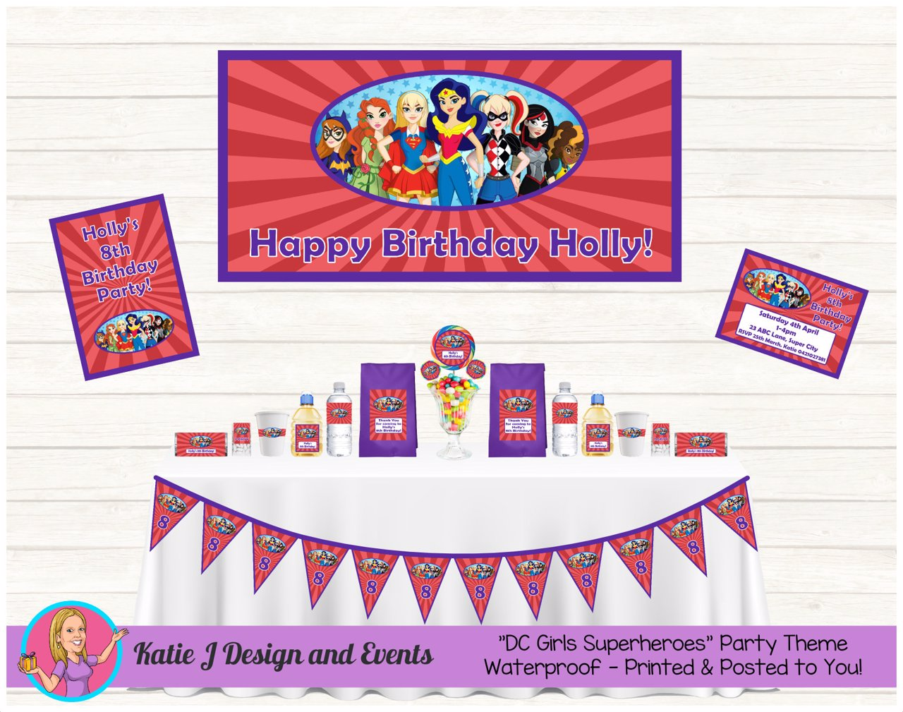 Girls DC Superheroes Party Decorations Supplies