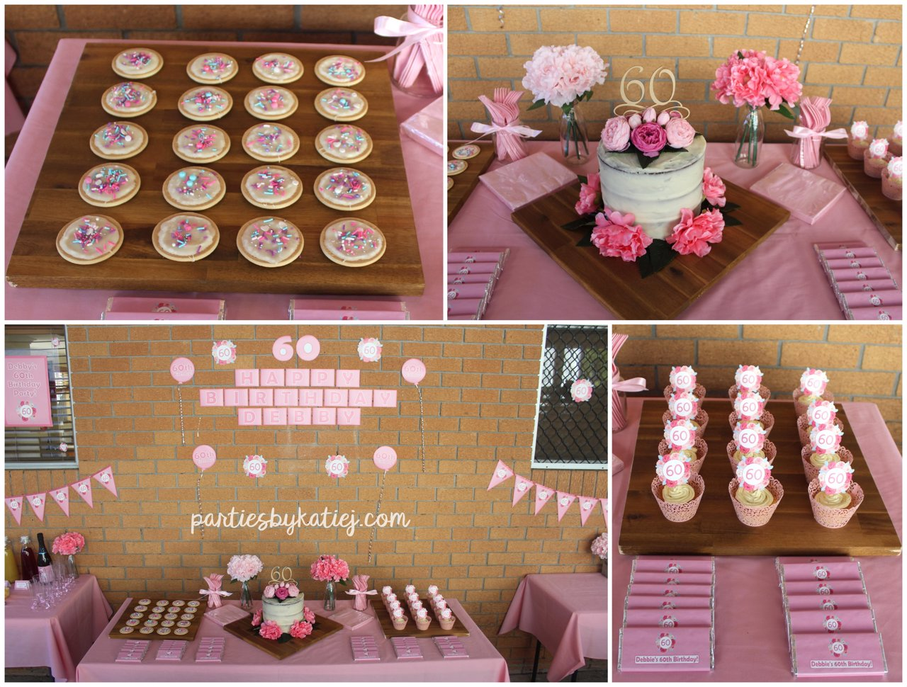 Nude Rustic Floral Birthday Cake Ideas DIY Setup Cake Table