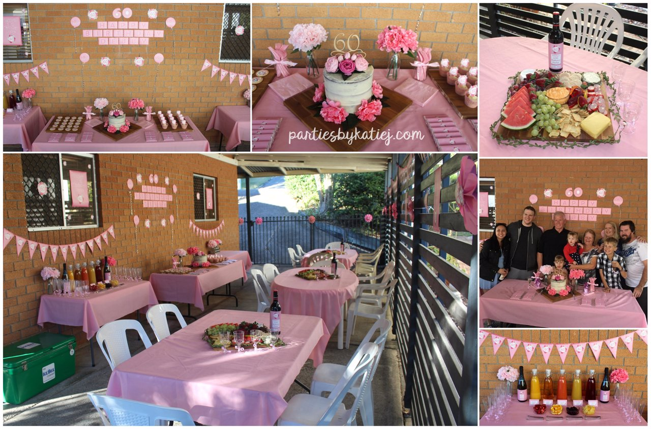 Rustic Floral Birthday Party Setup Cake Table Ideas
