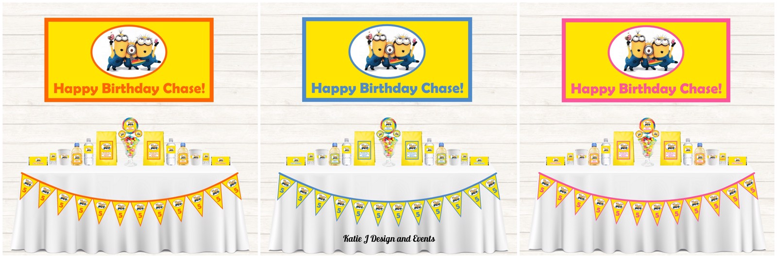 Personalised Minions Party Supplies