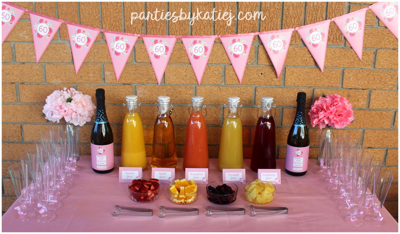 Mimosa Bar Rustic Floral Birthday Party Ideas