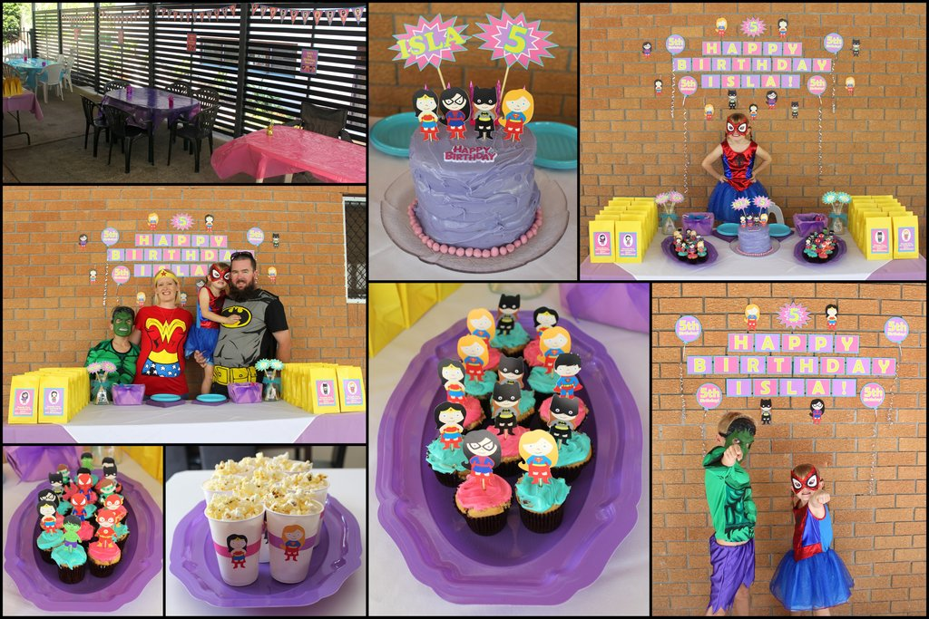 Girls Superheroes Personalised Party Decorations Katie J Design and Events