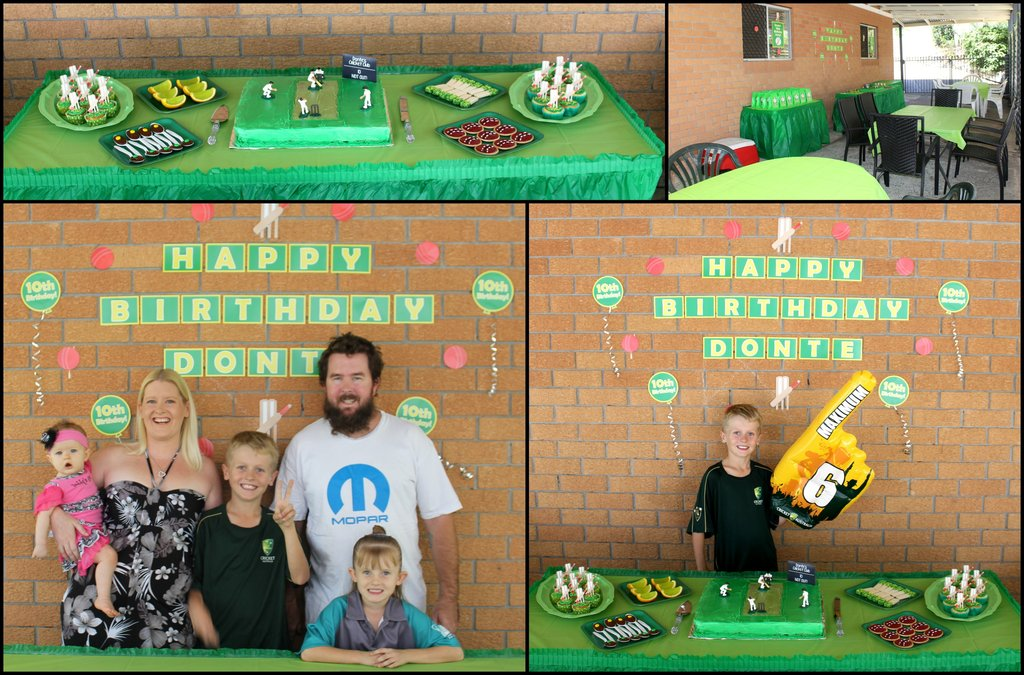 Cricket Personalised Party Decorations Cake Table Ideas Setup