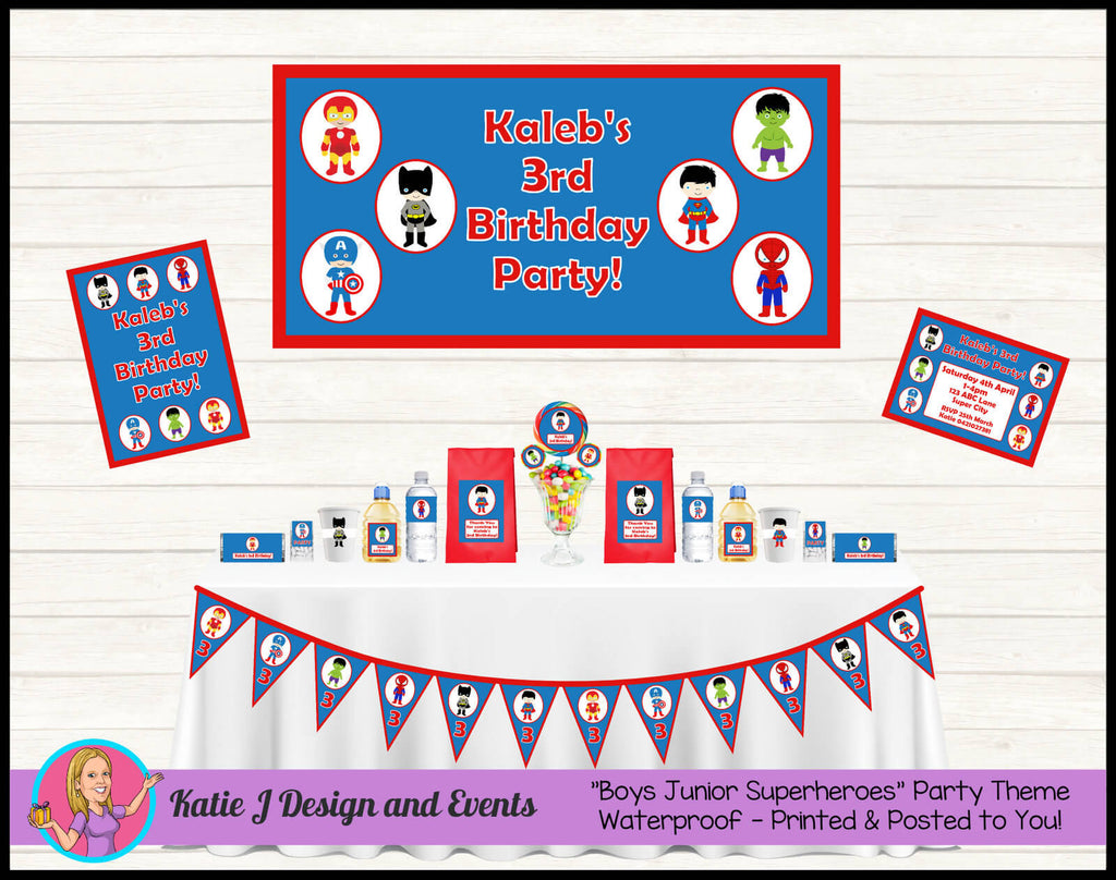 Boys Superheroes Party Decorations Supplies