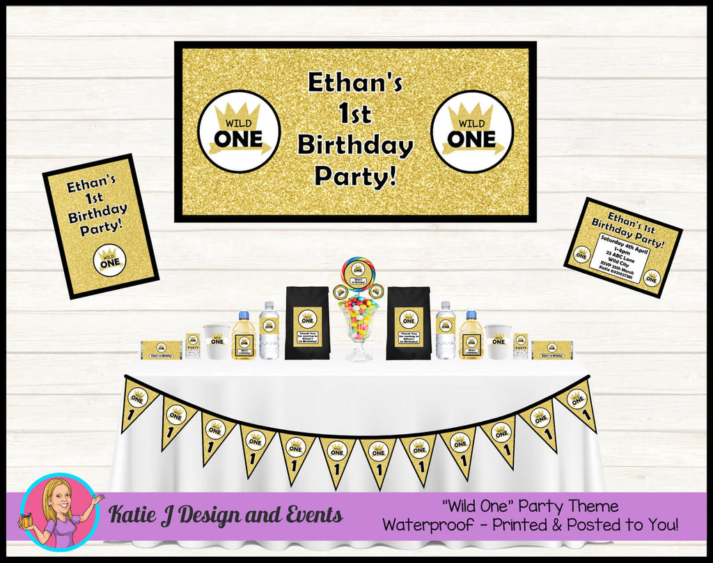Gold Wild One Party Decorations Supplies