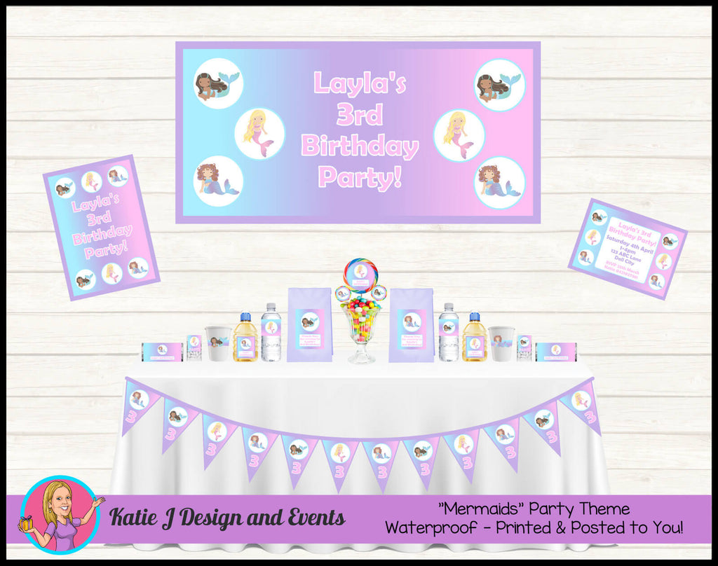 Mermaid Party Decorations Supplies