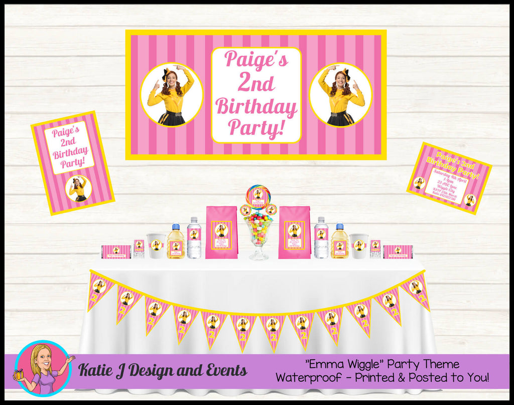 Pink Emma Wiggle Party Decorations Supplies
