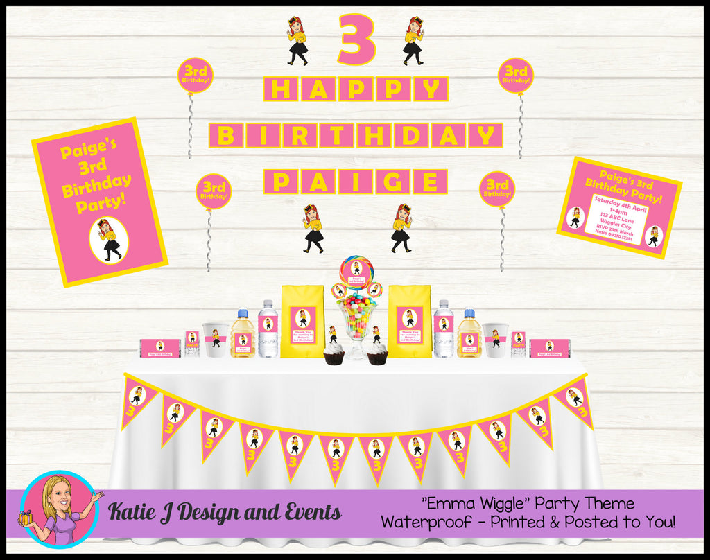 Pink Emma Wiggle Party Decorations Supplies Afterpay