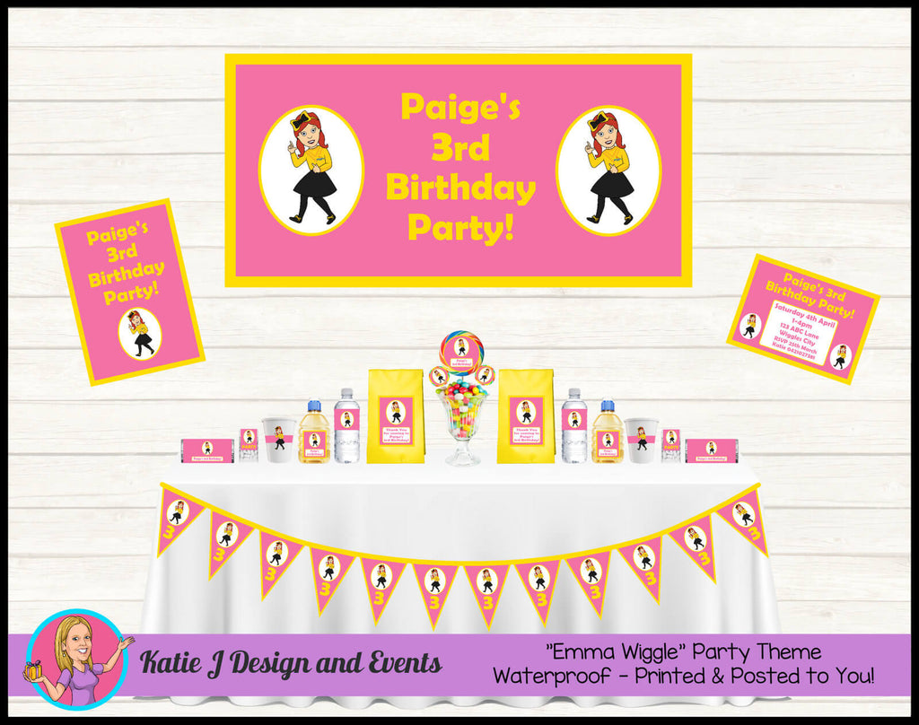 Pink Emma Wiggle Party Decorations Supplies Ideas