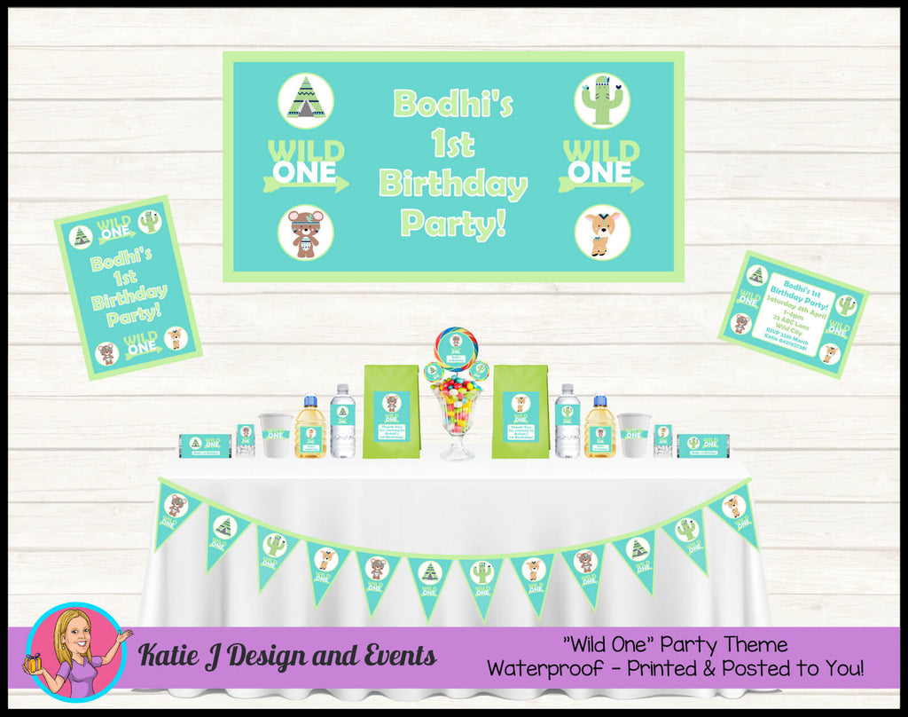 Adorable Wild One Animals Party Decorations Supplies Ideas